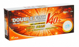 Шарики н/теннис Double Fish 1* Volant (10шт) 40+