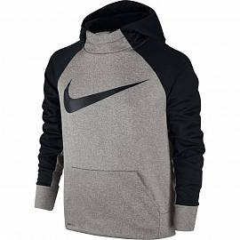 Толстовка NIKE ss B Thrma Po Grey Heather/Blk д.